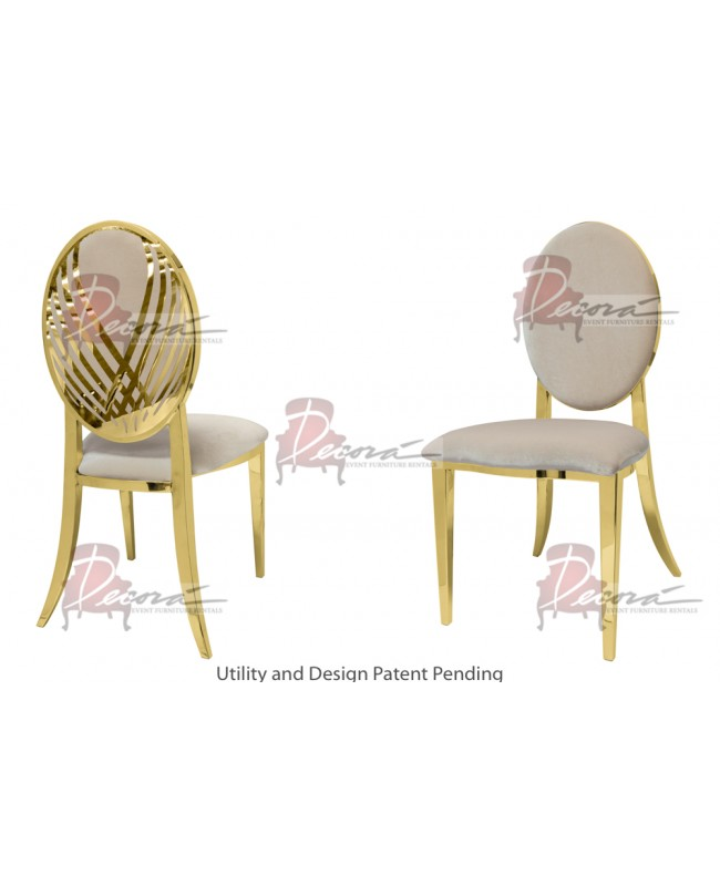 Swan Lake Chair (Gold-Champagne)
