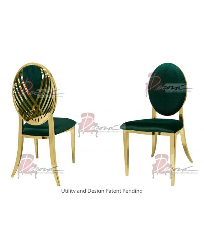 Swan Lake Chair (Gold-Emerald)