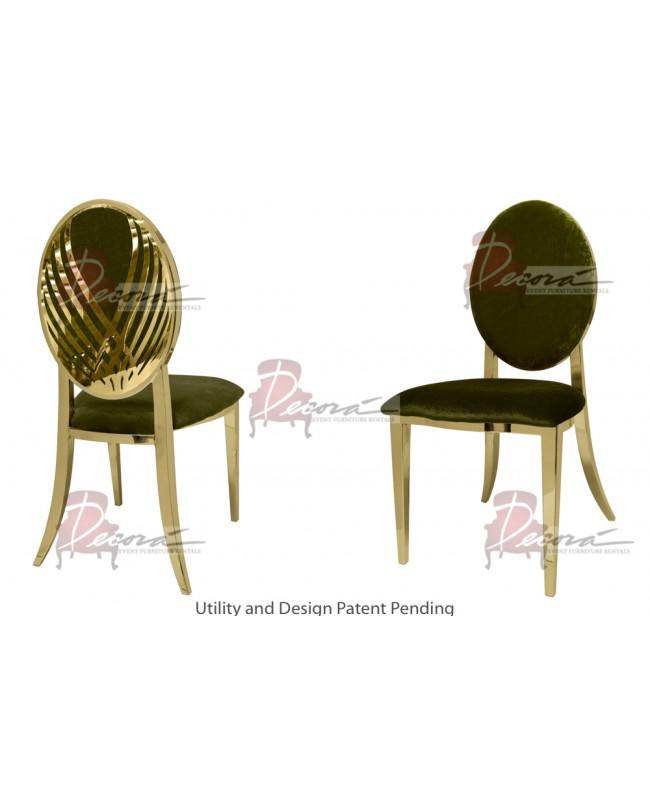 Swan Lake Chair (Gold-Moss)