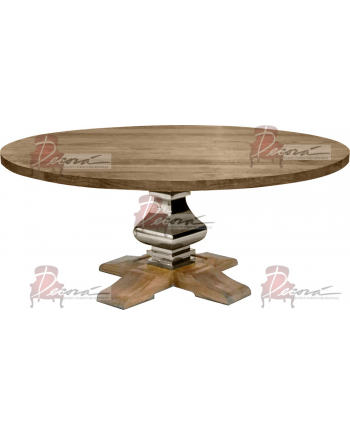 Tuscan Dining Table (Round) (Silver)