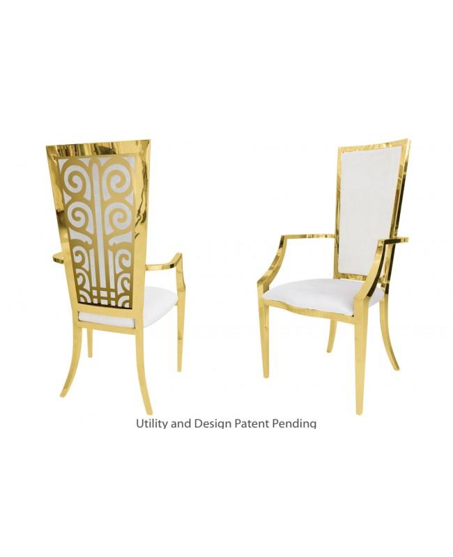 Valentino Armchair (Gold-White)
