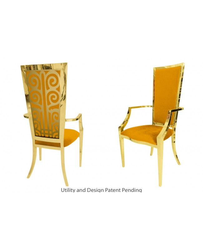 Valentino Armchair (Gold-Yellow)