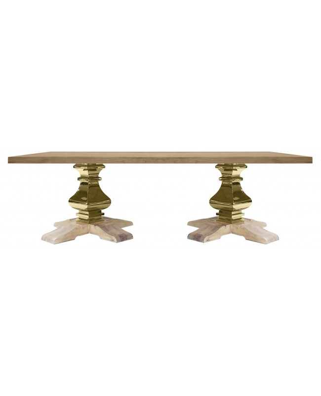 Tuscan Dining Table (Rectangle) (Gold)
