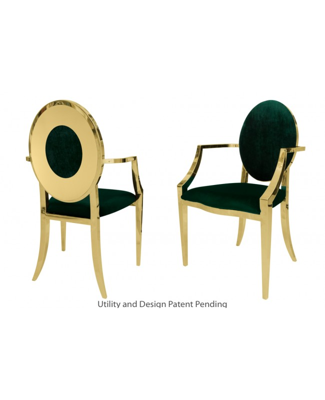 Oz Plus Armchair (Gold-Emerald)