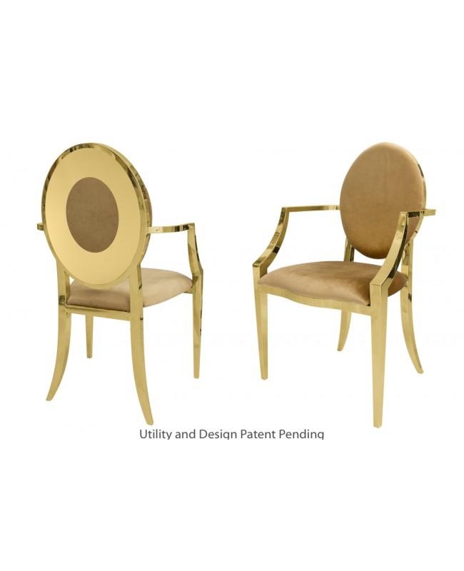 Oz Plus Armchair (Gold-Gold)