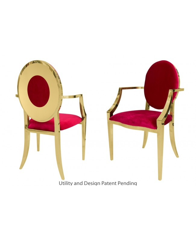 Oz Plus Armchair (Gold-Red)