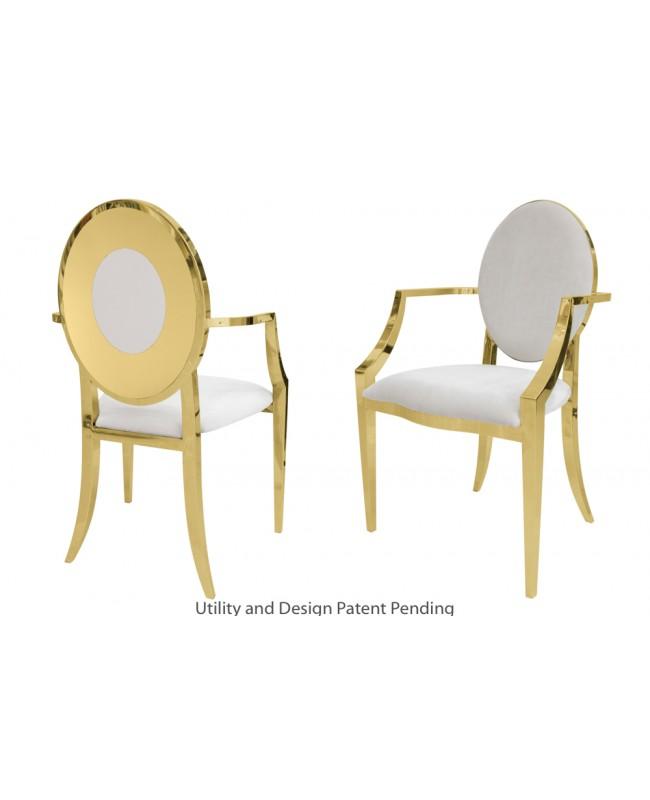 Oz Plus Armchair (Gold-White)