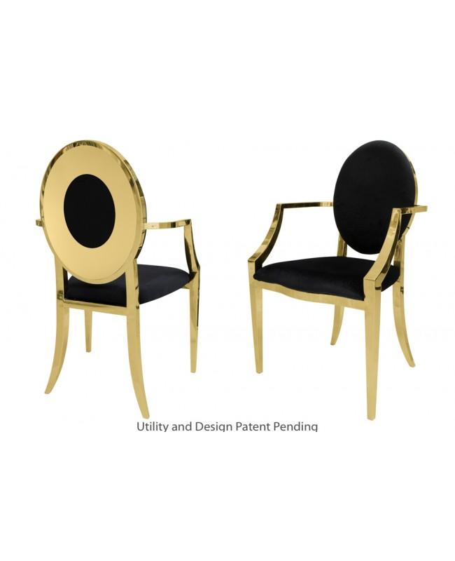 Oz Plus Armchair (Gold-Black)