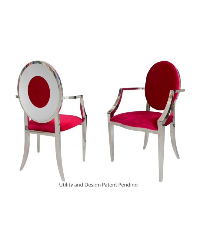 Oz Plus Armchair (Silver-Red)