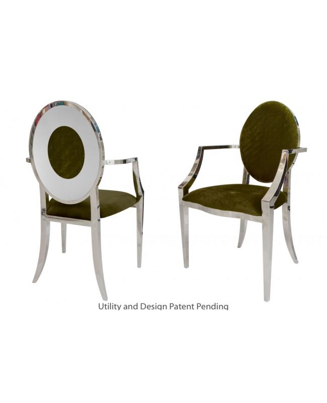 Oz Plus Armchair (Silver-Moss)