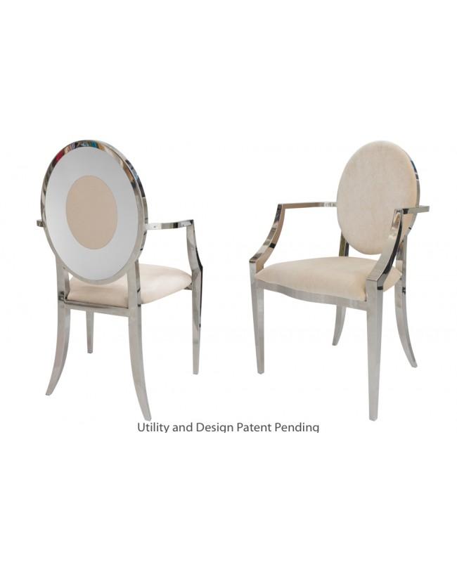 Oz Plus Armchair (Silver-Champagne)
