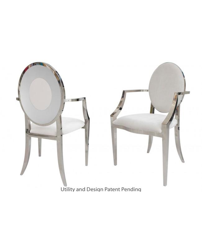 Oz Plus Armchair (Silver-White)