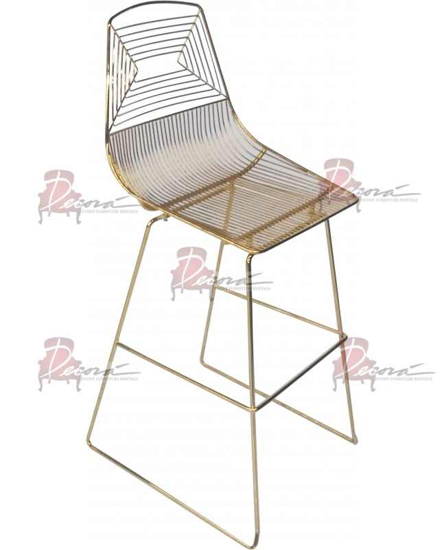 Wire Barstool (Gold)