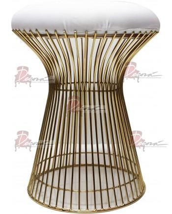 Wire Ottoman (Gold)