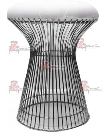 Wire Ottoman (Silver)