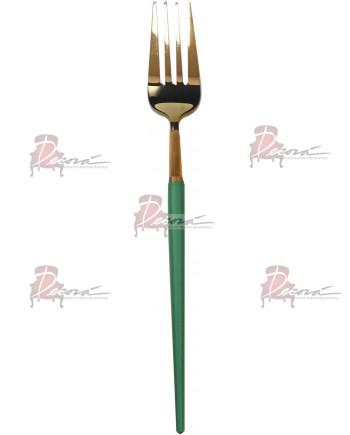 GOA Dinner Fork (Gold-Lt.Green)