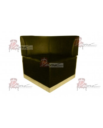 Velvet Modern Line Corner Chair (Moss) (Gold)