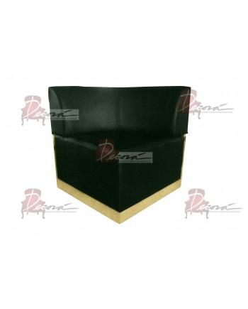 Velvet Modern Line Corner Chair (Emerald) (Gold)