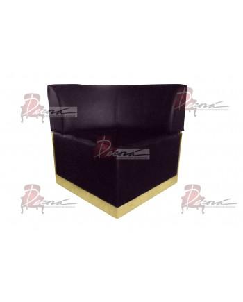 Velvet Modern Line Corner Chair (Eggplant) (Gold)