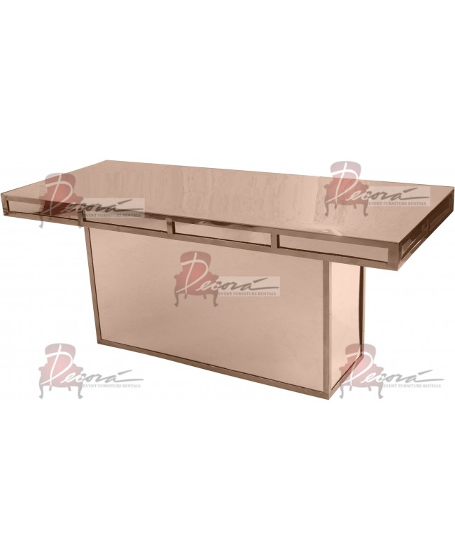 Reflection Dining Table Modern (Rose Gold) (Sweetheart)