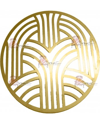 Artdeco Charger Plate (Gold)