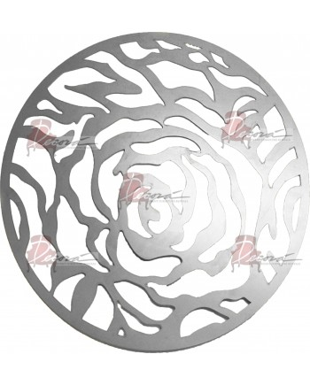 Rose Charger Plate (Silver)