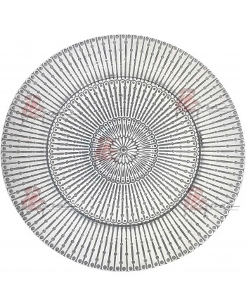 Raindrop Charger Plate (Silver)