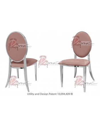 Tiffany Chair (Silver-Rose Gold)