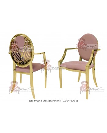 Crystal Swan Armchair (Gold-Rose Gold)