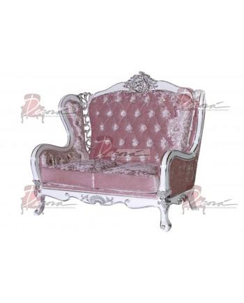 Monarch Love Seat (Light Pink)