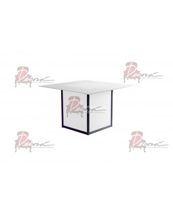 Skyline Dining Table (Square) (Clear Top)