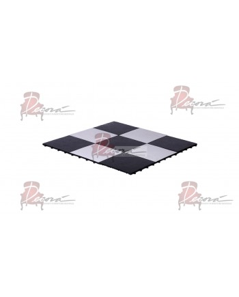 Dance Floor Black and White 1'x1' (Snap Lock)