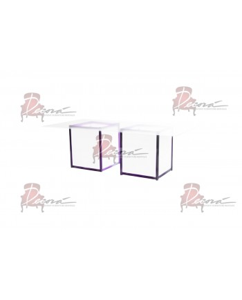 Skyline Dining Table (Royal) (White Top)