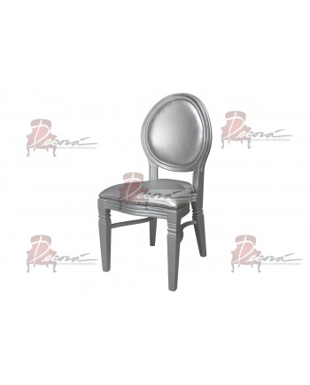 Chandelle Chair (Silver Frame Silver Cushion)