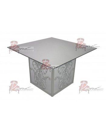 "Mirror Dining Table Dior  48""x48"" Square"