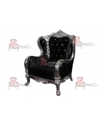 Monarch ArmChair (Black with Grey Frame)
