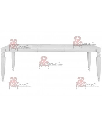 Vintage Dining Table (White) 8'