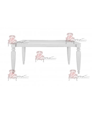Vintage Dining Table (White) 6'