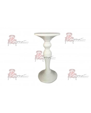 Louvre Round End Table (White)