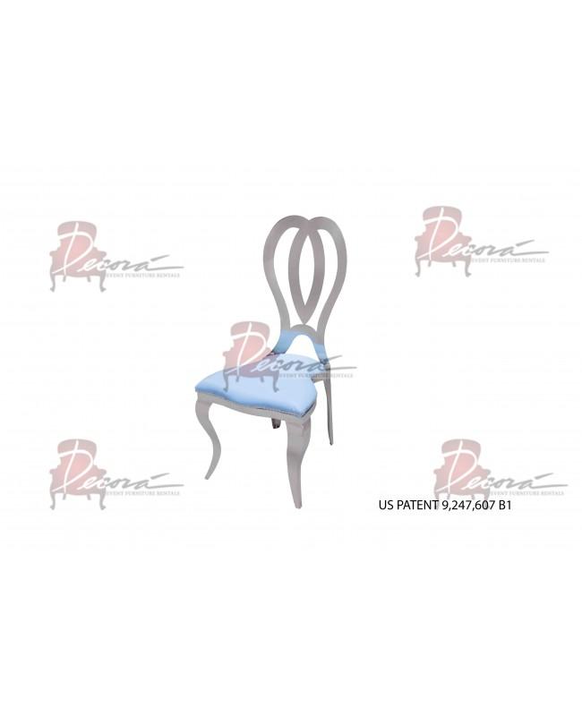 Halexandria Chair (Silver-Turquoise)