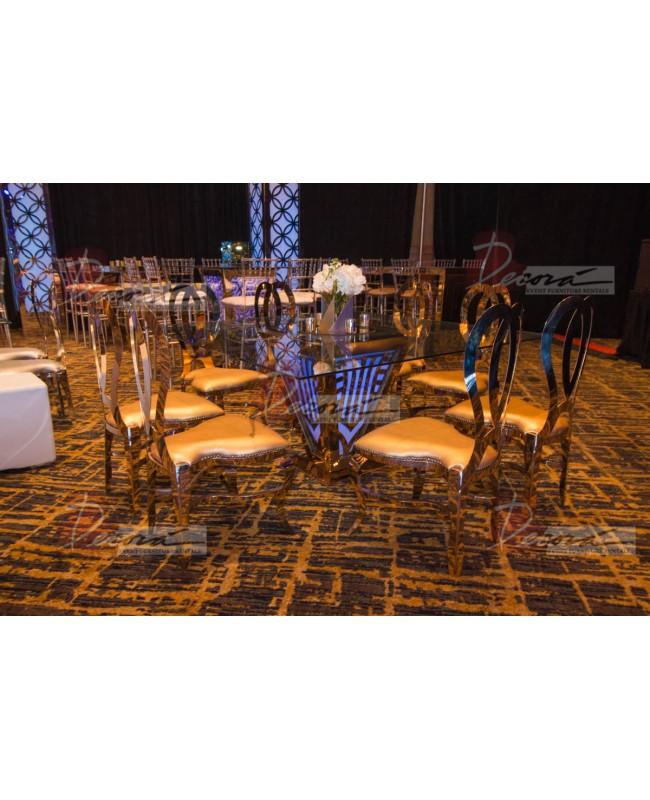 Halexandria Chair (Gold-Gold)