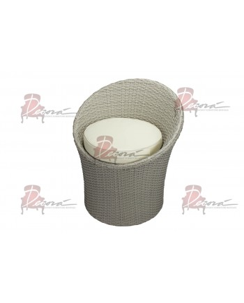 Rattan Chair Bucket (Round) (Sand)