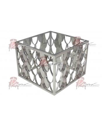 Reflection Coffee Table Scallop (Square) (Silver)