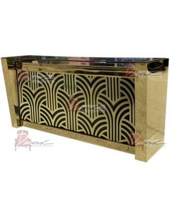 Reflection Bar 8' (Art Deco) Gold Extravaganza