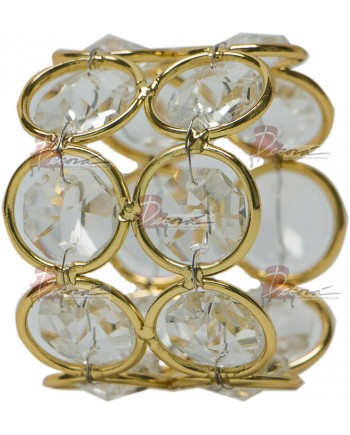 Double Crystal Napkin Ring (Gold)