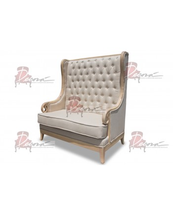 Empire Love Seat (Natural-Vintage taupe)