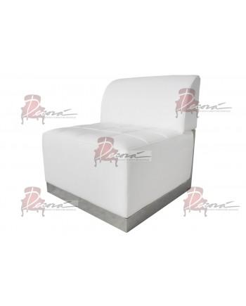 Modern Line Armless Chair (White)