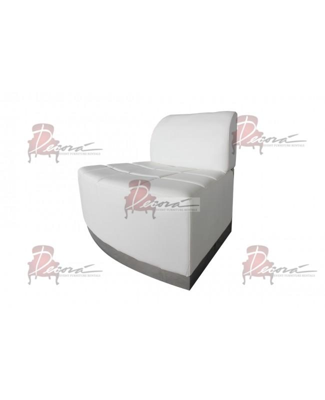 Modern Line Curve Chair (White)