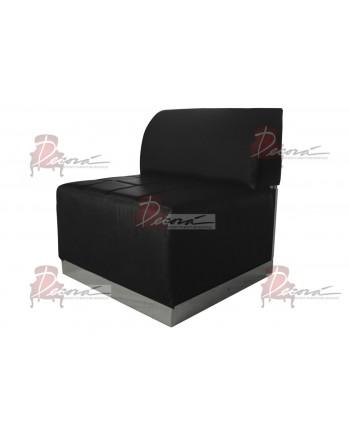 Modern Line Armless Chair (Black)