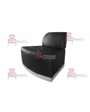 Modern Line Curve Chair (Black)